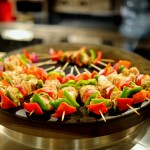 Colorful Skewers cooked on an Evo