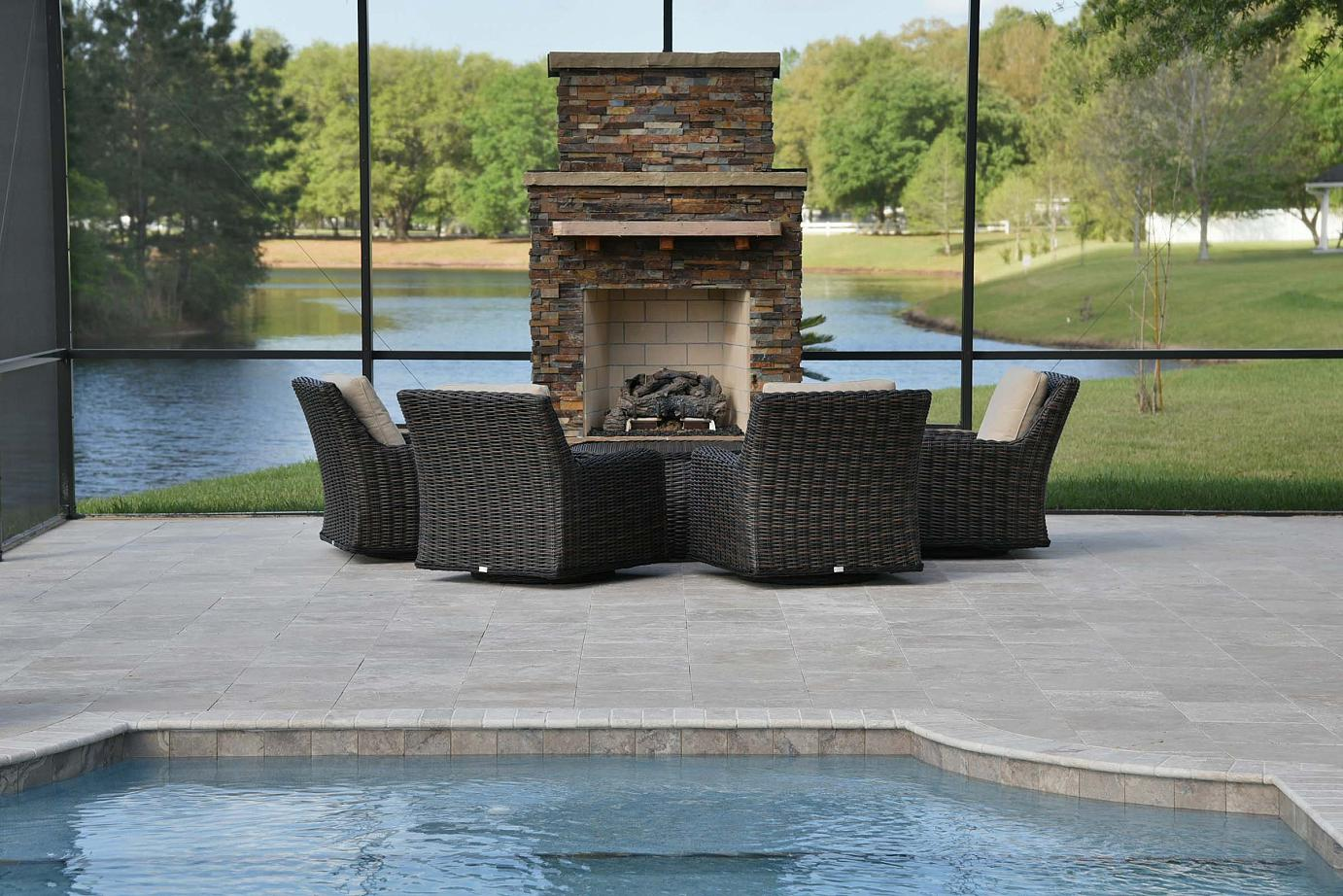 Custom Outdoor Fireplaces by Creative Design Space